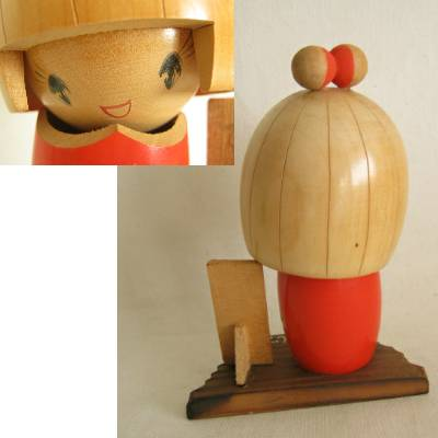Modern Creative Kokeshi on Stand, 4-3/4""