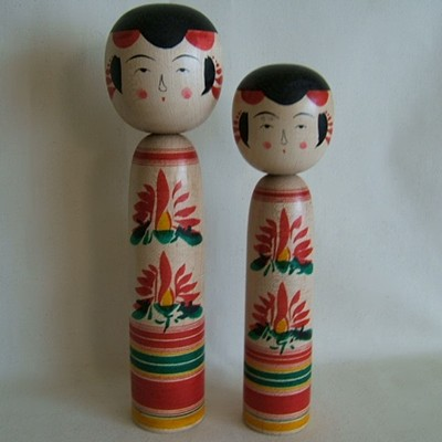 Yajiro Traditional Japanese Kokeshi, Old Style, 8-1/2""
